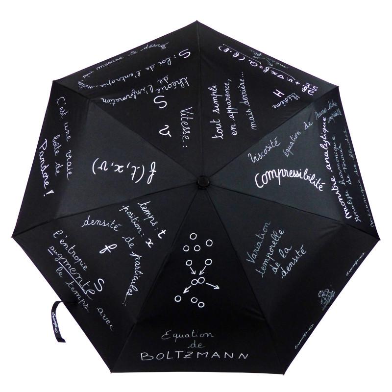"""Parapluie Oméga """"Équation de Boltzmann"""", mathématiquement et poétiquement illustré !"""