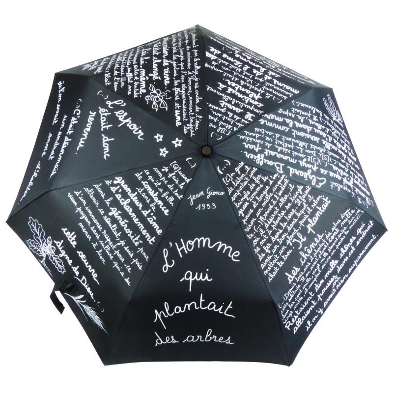 """Parapluie Oméga """"Giono"""", extrait du conte de Jean Giono « L'homme qui plantait des arbres » !"""