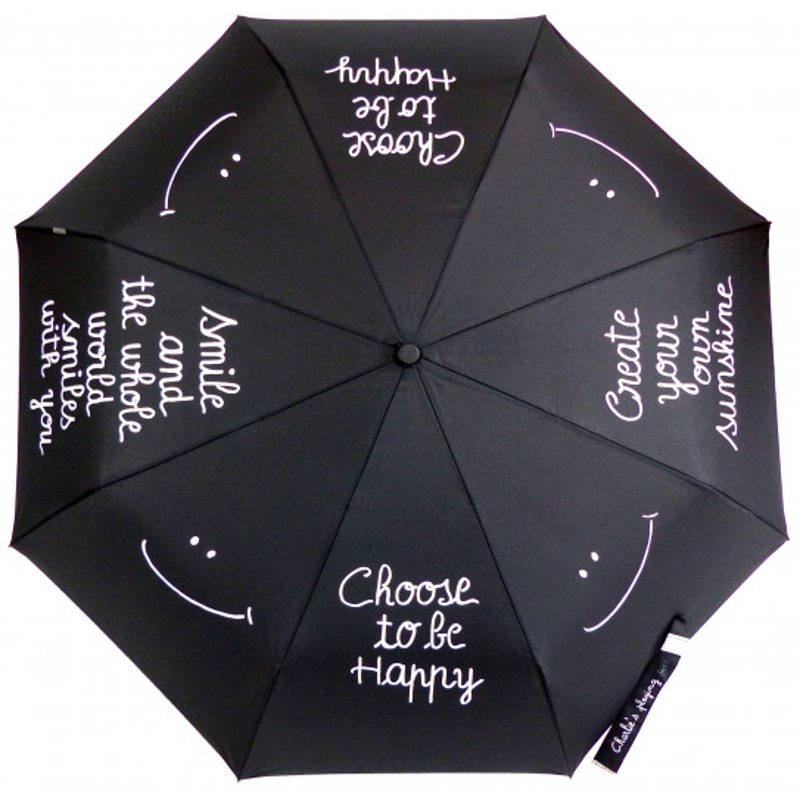 """Parapluies Charlie's playing """"Smile"""", un parapluie qui a du peps !"""