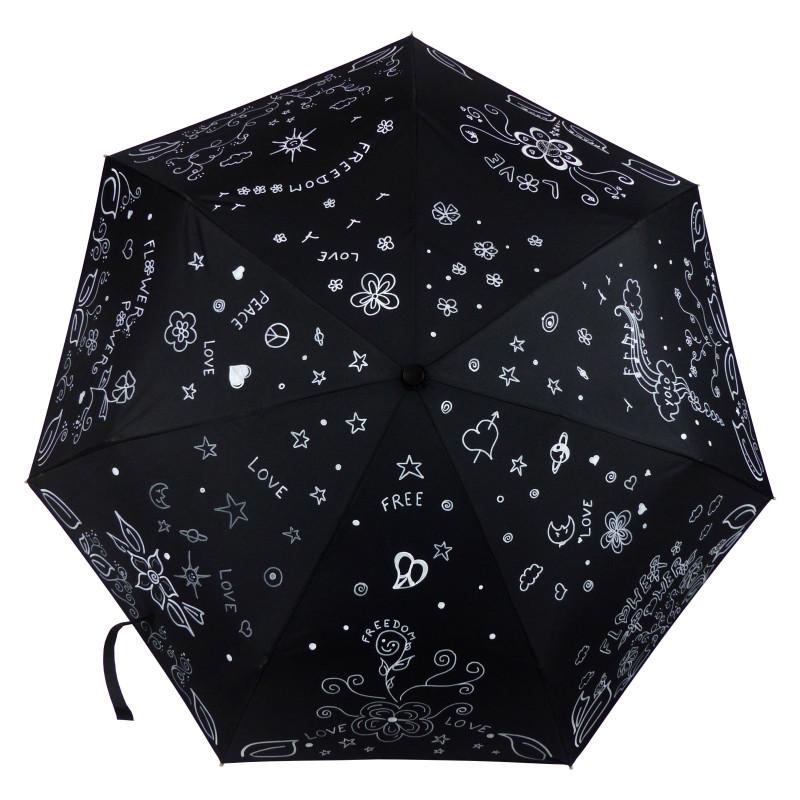 """Paix, liberté et amour, pour ce parapluie Oméga """"Peace & Love"""", directement inspiré du mouvement hippie !"""
